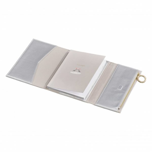 Ted Baker Notebook with Pencil Case, Silver