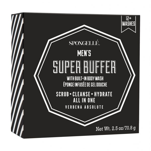 Spongelle Men Super Travel Buffer Verbena Absolute 12 Washes