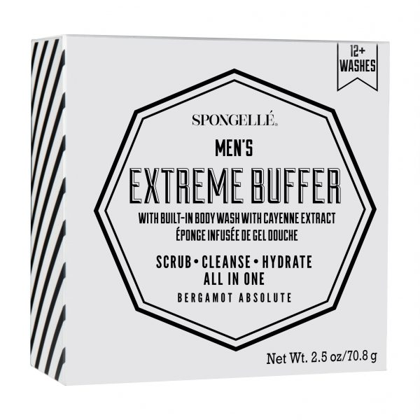 Spongelle Men Extreme Travel Buffer Bergamot Absolute 12 Washes