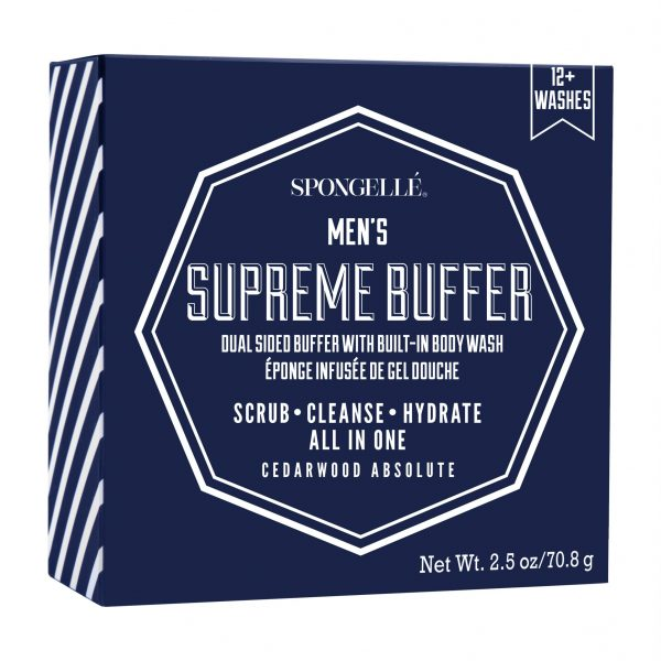 Spongelle Men Supreme Travel Buffer Cedar Absolute 12 Washes