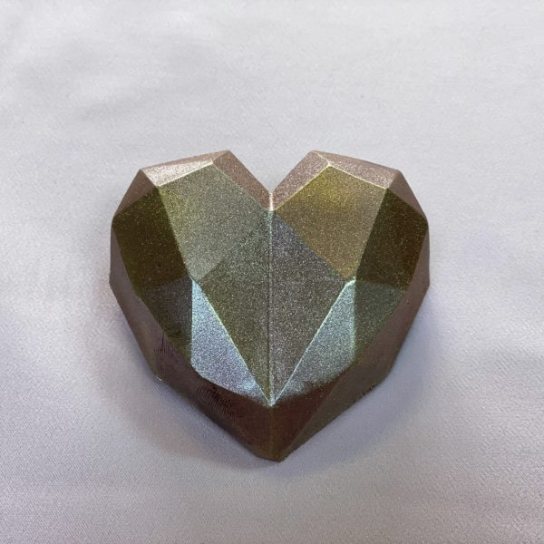 Homemade Metallic Brown Heart Chocolates