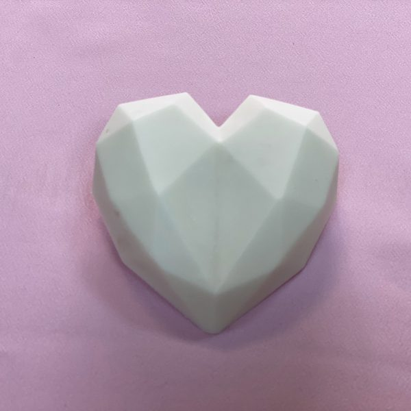 Homemade White Heart Chocolates