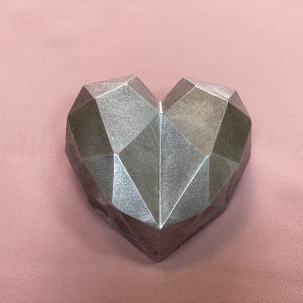Homemade Silver Heart Chocolates