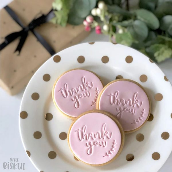 Cookie Cutters Little Biskut Thank You Embosser