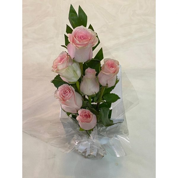 Fresh  Pink Roses Bouquet 6