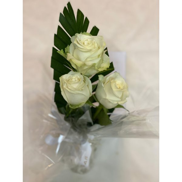Fresh White Roses Bouquet 3