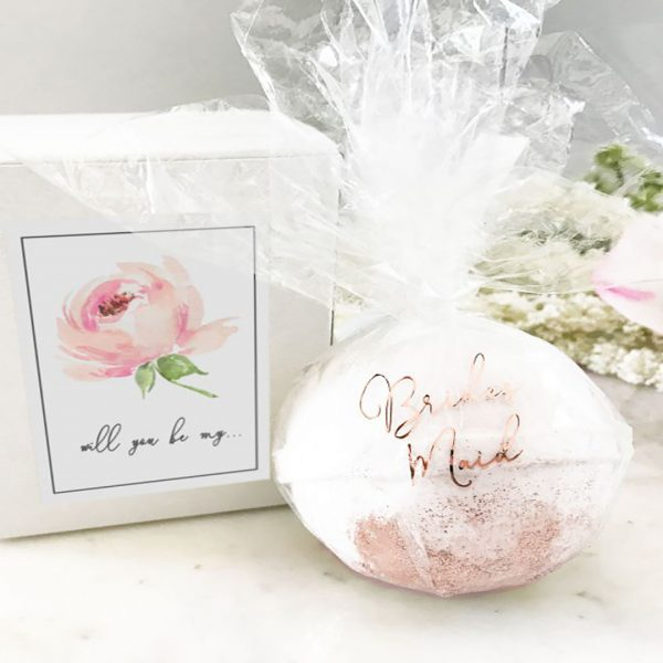 Event Blossom Bridal Party Proposal Bath Bombs - Gold