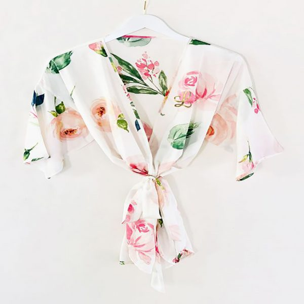 Event Blossom Personalized Spring Rose Satin Robe