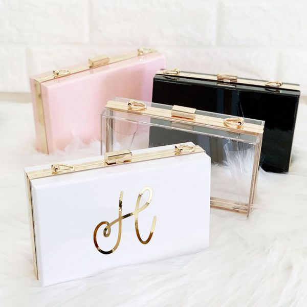 Event Blossom Personalized Acrylic Purse - Clear