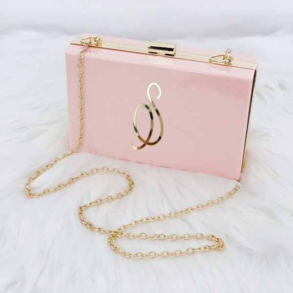 Event Blossom Personalized Acrylic Purse - Pink
