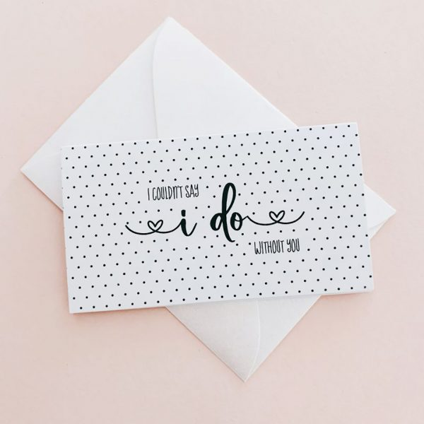 Event Blossom Bridesmaid Proposal Cards (set of 6)